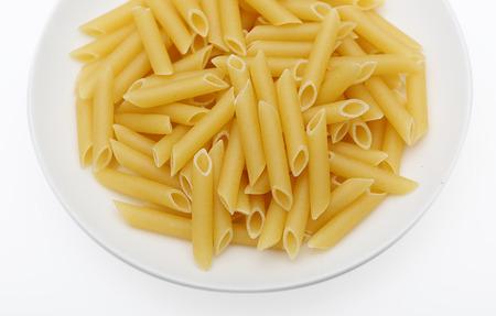 durum wheat semolina: Macaroni pen. pasta into a tube made from durum wheat semolina