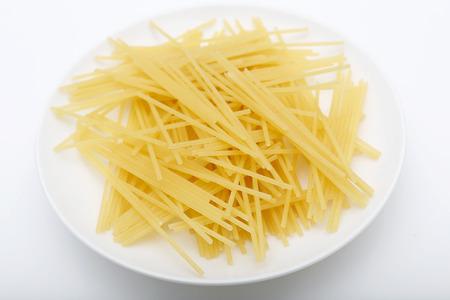 durum wheat semolina: Spaghetti. pasta made from durum wheat semolina Stock Photo