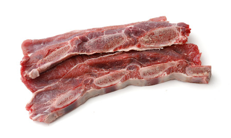 veal: sliced veal chop. Raw beef meat rich in protein Stock Photo