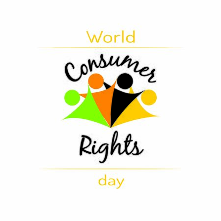 Illustration of World consumer rights day lettering. For advertising, marketing, business needs. Banners for 15th may