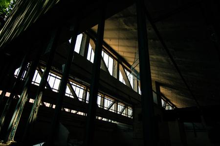 sanitarium: Abandoned madhouse Stock Photo