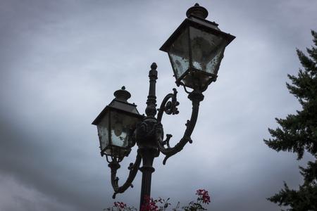 lighting column: rural landscape in the summer or spring