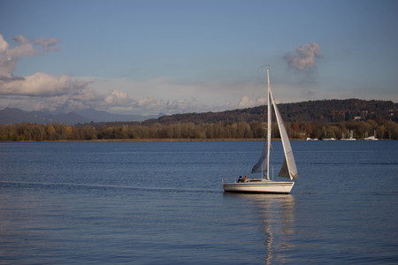 Pictures of boat on the maggiore lake