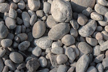 Perpendicular photo of white river pebbles