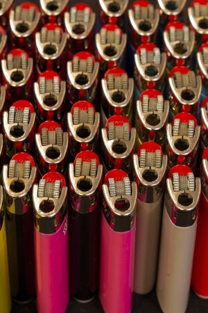 set of lighters photographed with various angles, compositions and sets of lights