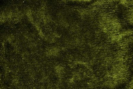 Green furry fabric texture