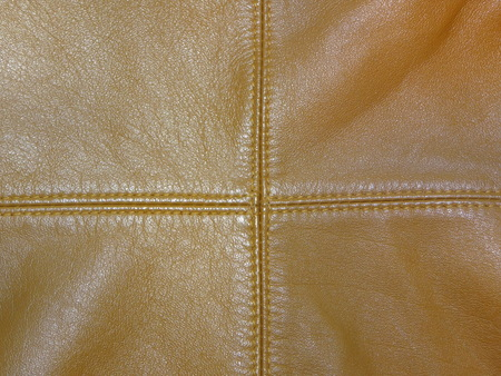 seams: brown leather with seams