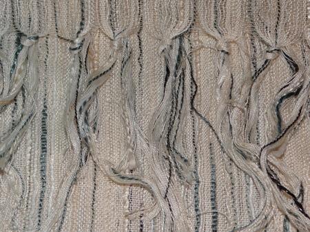 fringe: striped fabric with fringe Stock Photo