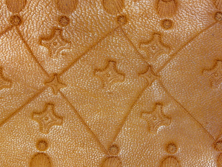 old leather: old leather handmade Stock Photo