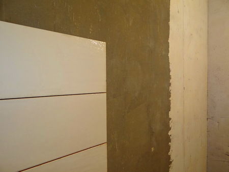 stow: laying tile Stock Photo