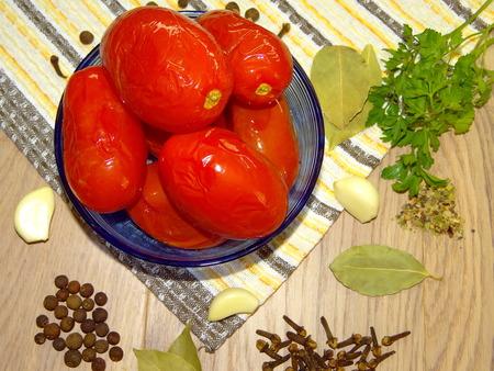 marinated: tomatoes marinated Stock Photo