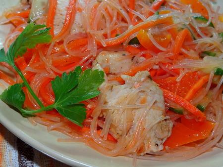 rice noodles: rice noodles Stock Photo