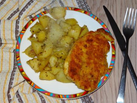 potato tree: Chicken schnitzel