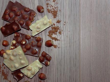 avellanas: chocolate con avellanas