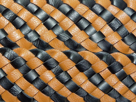braided: braided leather Stock Photo