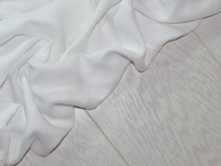 white cloth: white cloth on boards Stock Photo