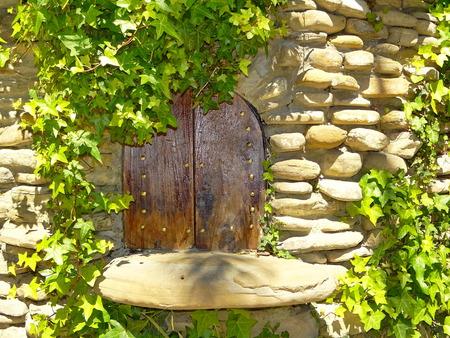 playhouse: the door to the Playhouse Stock Photo