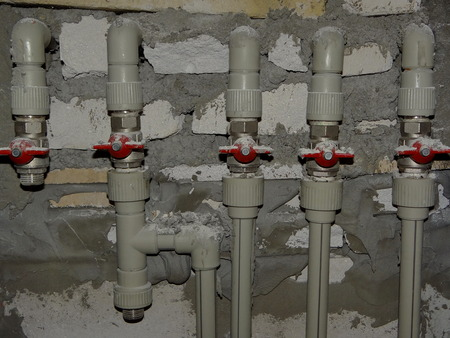 spigot: water pipes Stock Photo