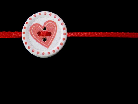 black background: heart on a black background Stock Photo