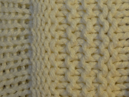 knitted: white knitted fabric Stock Photo