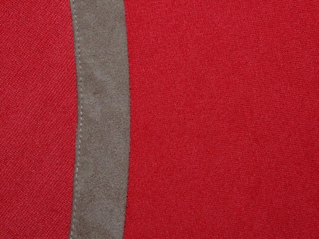 suede: red cloth with suede Stock Photo