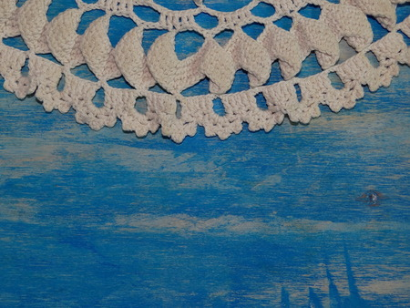 but: white lace but blue Stock Photo