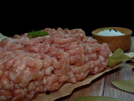 carne picada: Mince cerdo Foto de archivo
