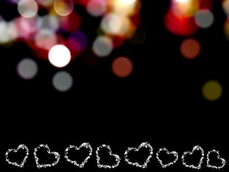 heart on shiny background