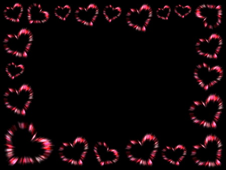 frame of hearts Stock Photo