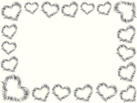 Het frame van de harten