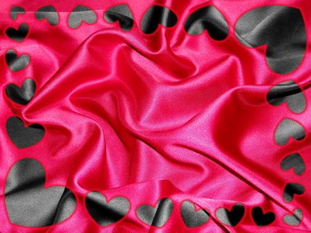 frame of hearts Stock Photo