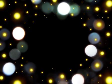 paillette: glare on a black background