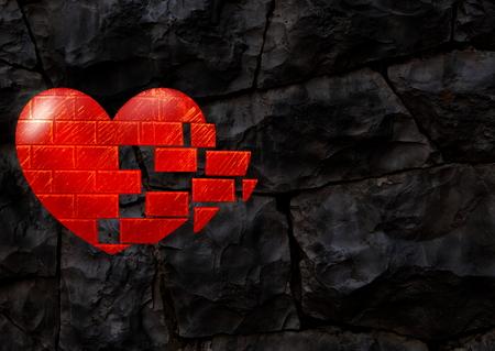 masonry: rocky background with heart