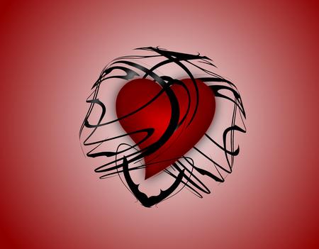 8 ball: heart