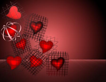 heart cells Stock Photo