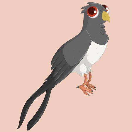 Cute swallow. Vector illustration