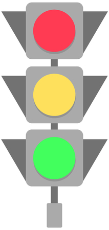 Traffic light icon, vector illustration. Isolated on white background