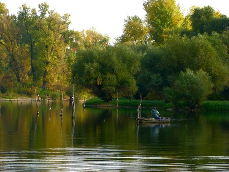 bout: Landscape, Danube Stock Photo