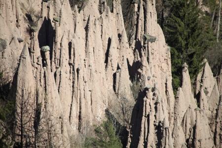 Renon, Bolzano, famous Earth pyramids geological phenomenon photo