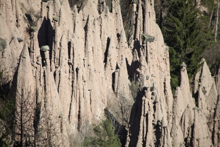 phenomenon: Renon, Bolzano, famous Earth pyramids geological phenomenon