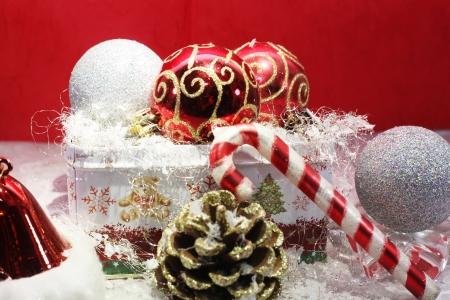 Close up of wonderful christmas decorations