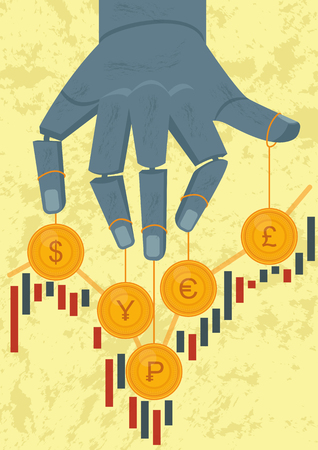 Stock market games (currency) Vectores