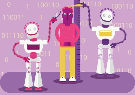 Two robots are trying to understand his preferences. Artificial intelligence detects our activity in the Internet.