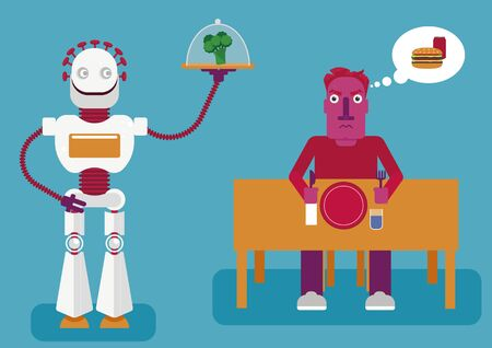 Artificial intelligence knows better. How a neuronetwork analises us and offers a better decision based on results. A robot offers healthy food instead of junk food as we need to have a healthy diet