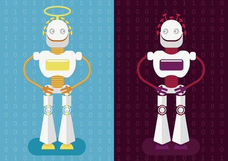 Good and bad artificial intelligence. As every invention and technology neuronet could be used for benefits or for harm of humanity (as cyber crime). Possibility of integration of AI in our life