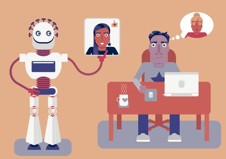 Artificial intelligence knows better. How a neural network is analysing us and offers a better decision based on results and algorithms. A robot offers a better match for you