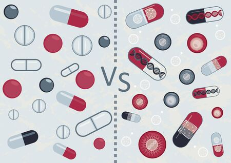 Old medicine and new medicine. Which will be better: usual drugs or cell therapy, gene therapy, nanobots and smart pills
