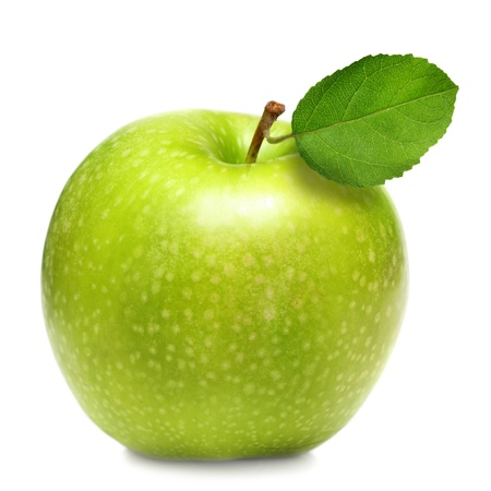 Green apple isolated photo