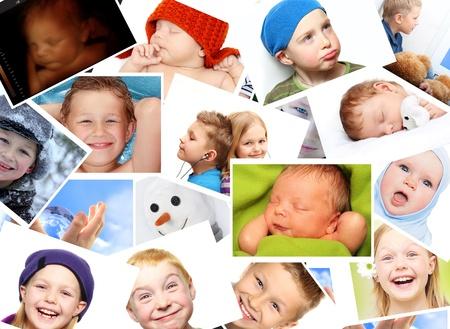 collage caras: Un montón de fotografías.