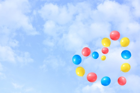 Balloons flying into the sky. Stock Photo - 12711257